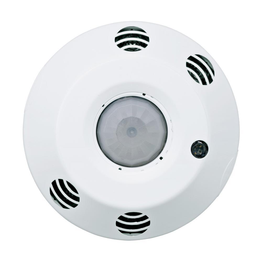 Provolt Passive Infrared/Ultrasonic 1000 sq. ft. 360° Ceiling Mount Occupancy Sensor, White