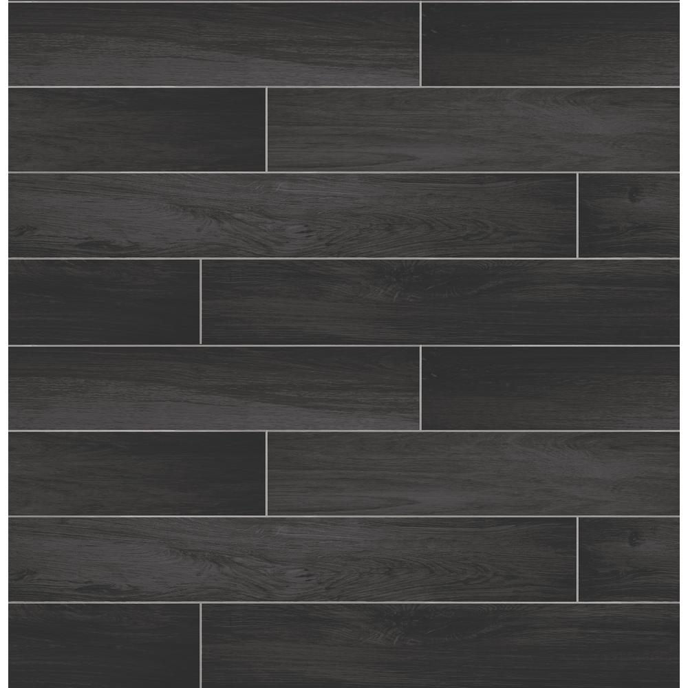 A-Street Titan Black Wood Wallpaper Sample 2716-23820SAM