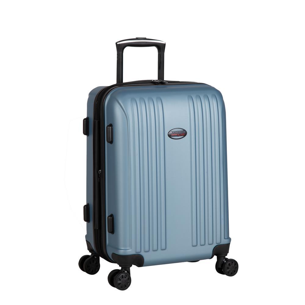 Moraga 22 in. Dusk Blue 8-Wheel Hard Side Spinner Luggage