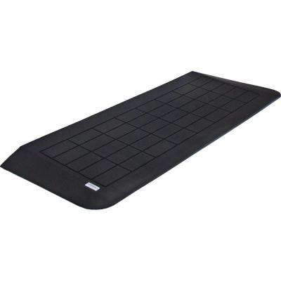 1-3/4 in. High x 42 in. L Black Recycled Rubber Threshold Wheelchair Ramp