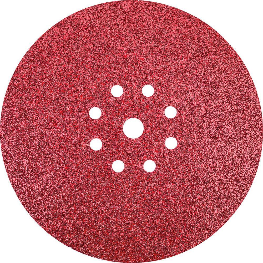 9 in. Round Abrasive Disc, Hook & Loop, 40-Grit (25/Pack)