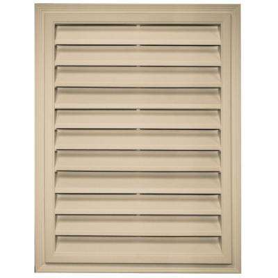 18 in. x 24 in. Rectangle Gable Vent in Light Almond