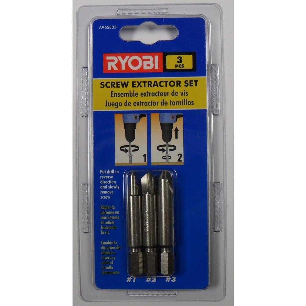Ryobi Screw Extractor Set (3-Piece)