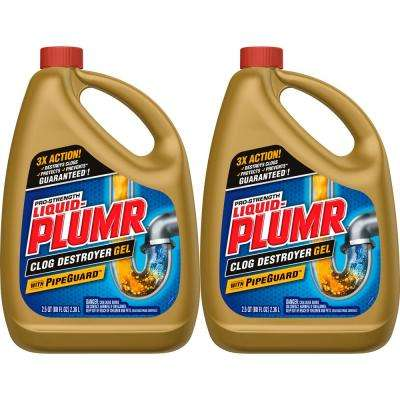 80 oz  Professional Strength Full Clog Destroyer and Drain Cleaner (2-Pack)