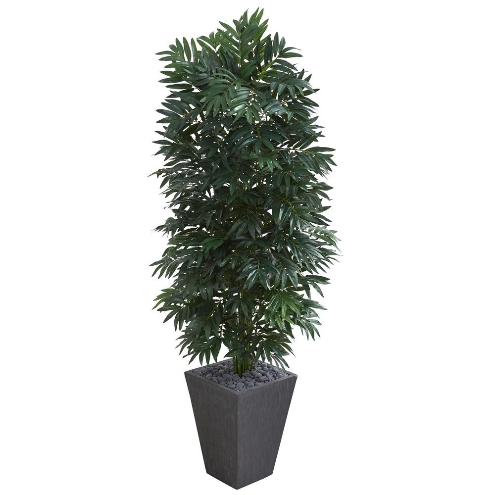 Nearly Natural Indoor 5.5 ft. Double Bamboo Palm Artifici...