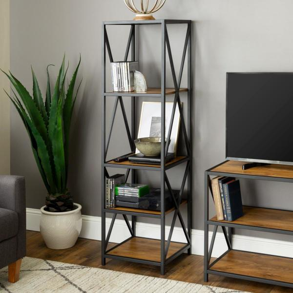 Furniture Companys: Walker Edison Furniture Company X-Frame Barnwood Metal And