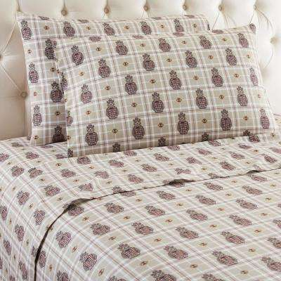 4-Piece Grizzly B Cool King Polyester Sheet Set