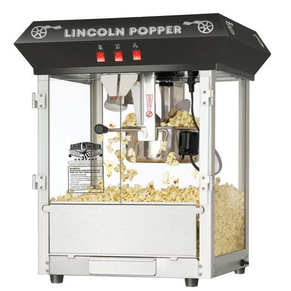 Great Northern Lincoln 8 Oz Antique Black Countertop Popcorn Machine Hwd630224 The Home Depot