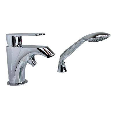 2-Piece 3/4 inch Fast Fill Single-Handle Deck-Mount Roman Tub Faucet with Hand shower in Chrome