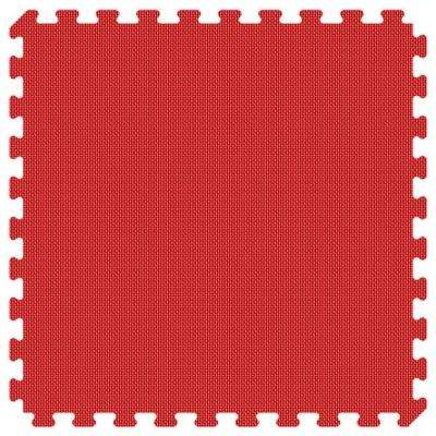 Red and Royal Blue Reversible 24 in. x 24 in. Thick Comfortable Mat (100 sq.ft. / Case)