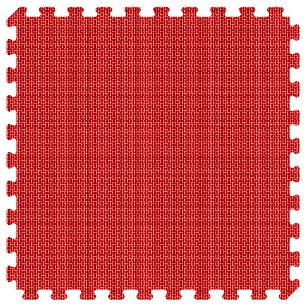 Groovy Mats Red and Royal Blue Reversible Thick Comfortable Mats - Small Sample Piece