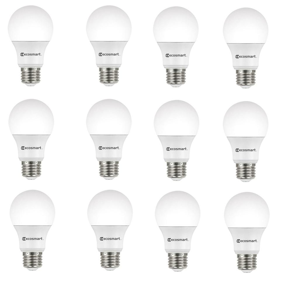Ecosmart 60 Watt Equivalent A19 Non Dimmable Led Light Bulb Daylight 12