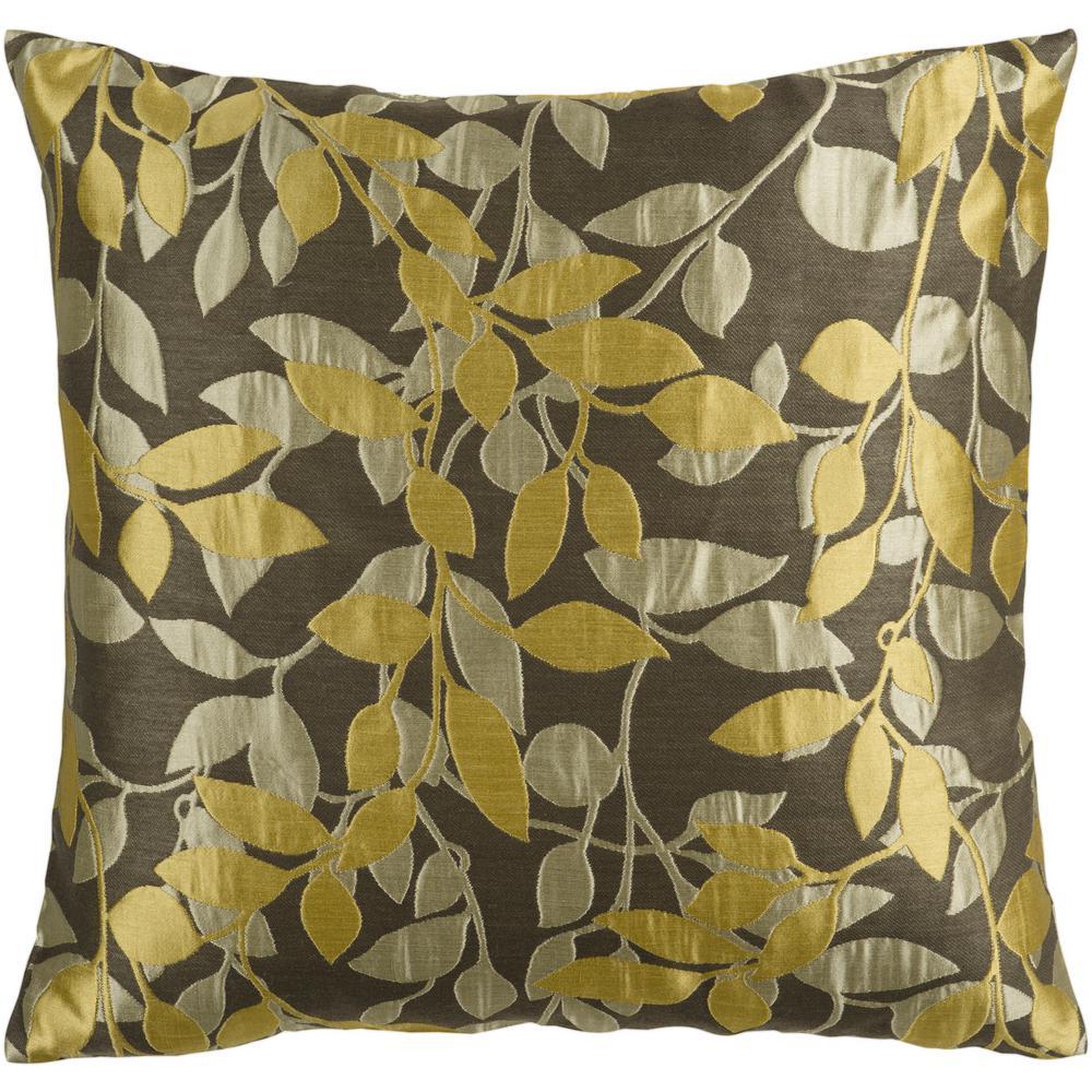 Encelia Tan Geometric Polyester 22 in. x 22 in. Throw Pillow