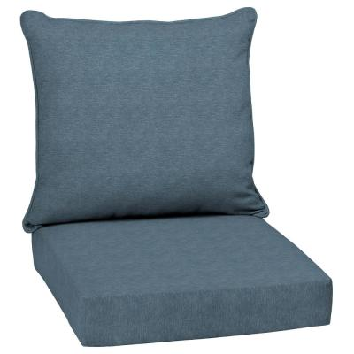 24 x 24 Denim Alair Texture 2-Piece Deep Seating Outdoor Lounge Chair Cushion