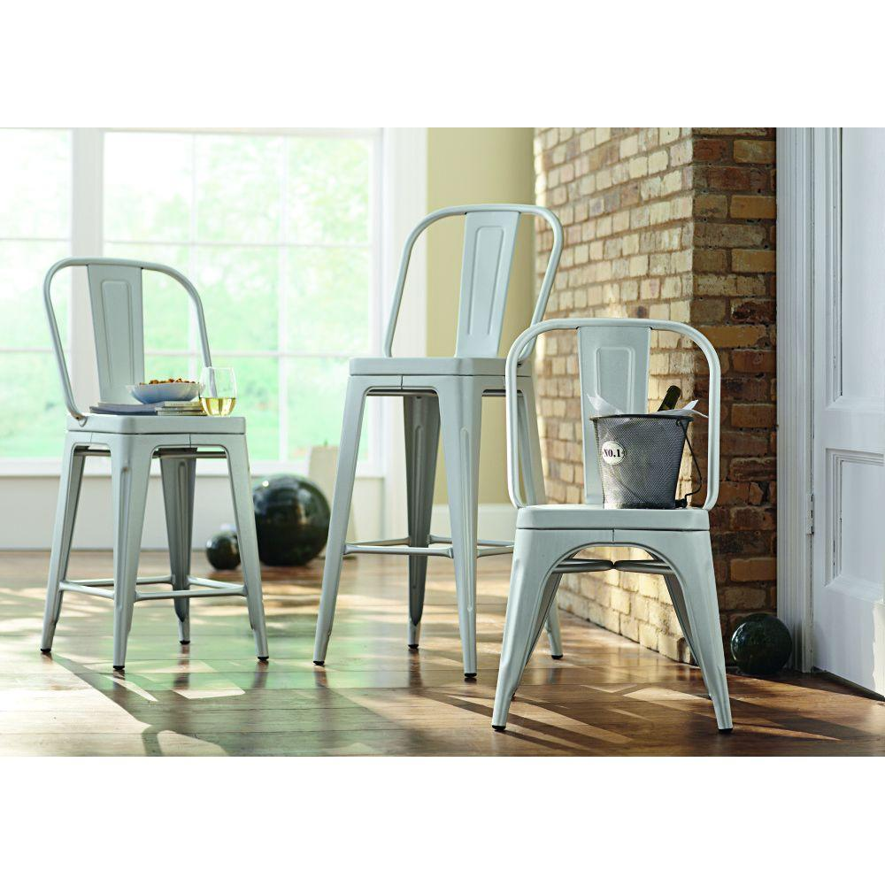 Home Decorators Collection Garden 40 in. H Blue Counter Height Stool