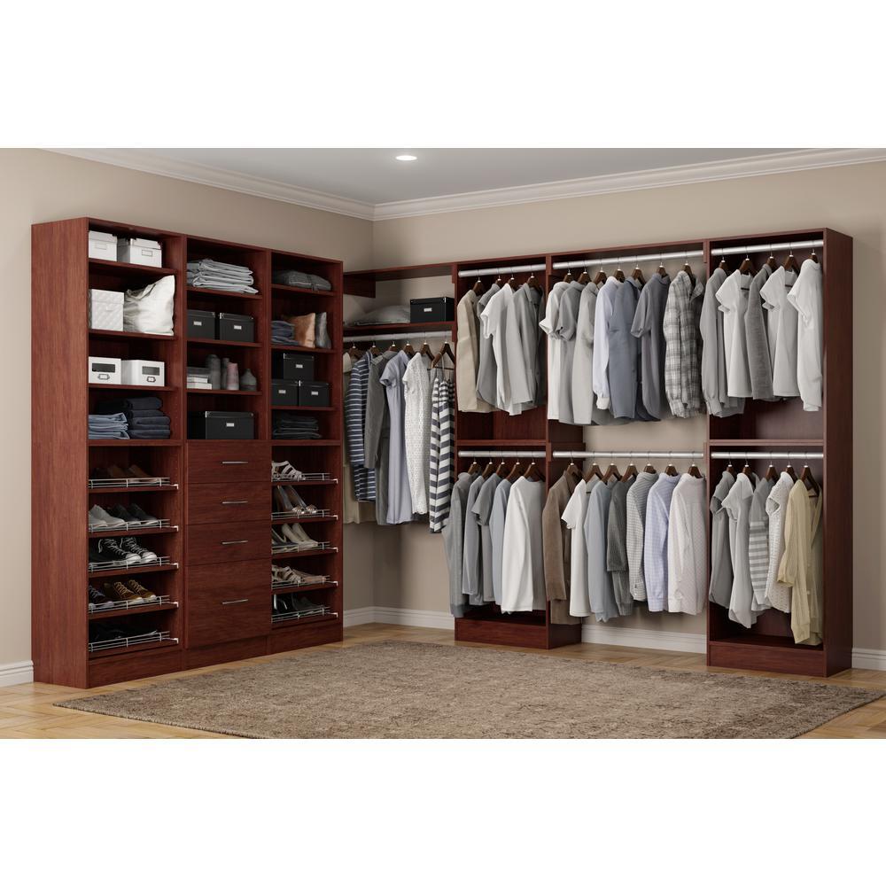Brown Wood Closet System Calabria Photo 71