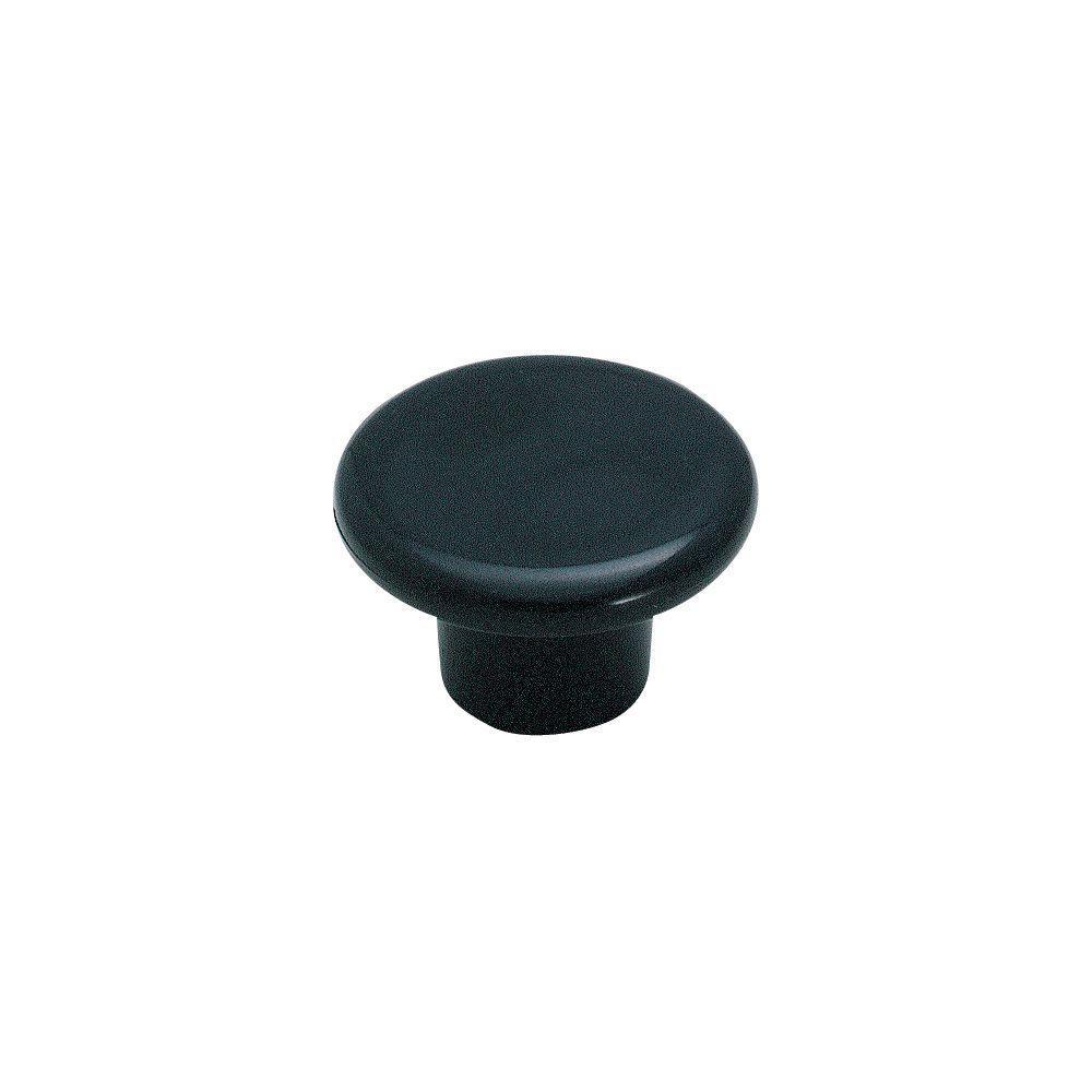 Amerock 1-1/4 in. Black Cabinet Knob