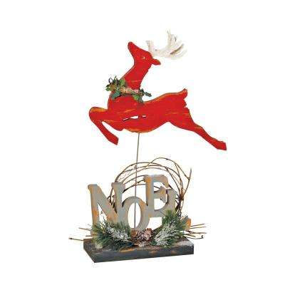 13 in. Rustic Reindeer Noel Table