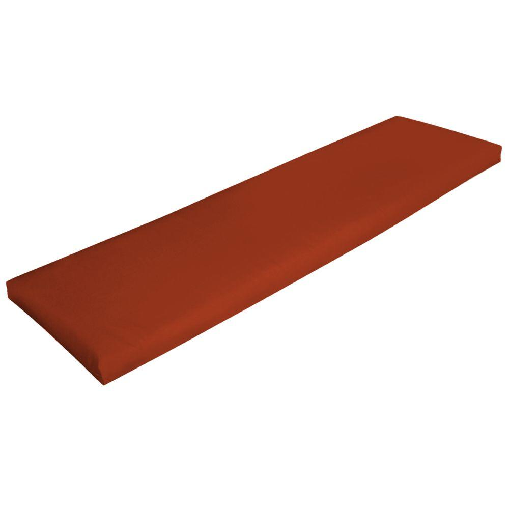 Hampton Bay Chili Red Solid Outdoor Bench Cushion