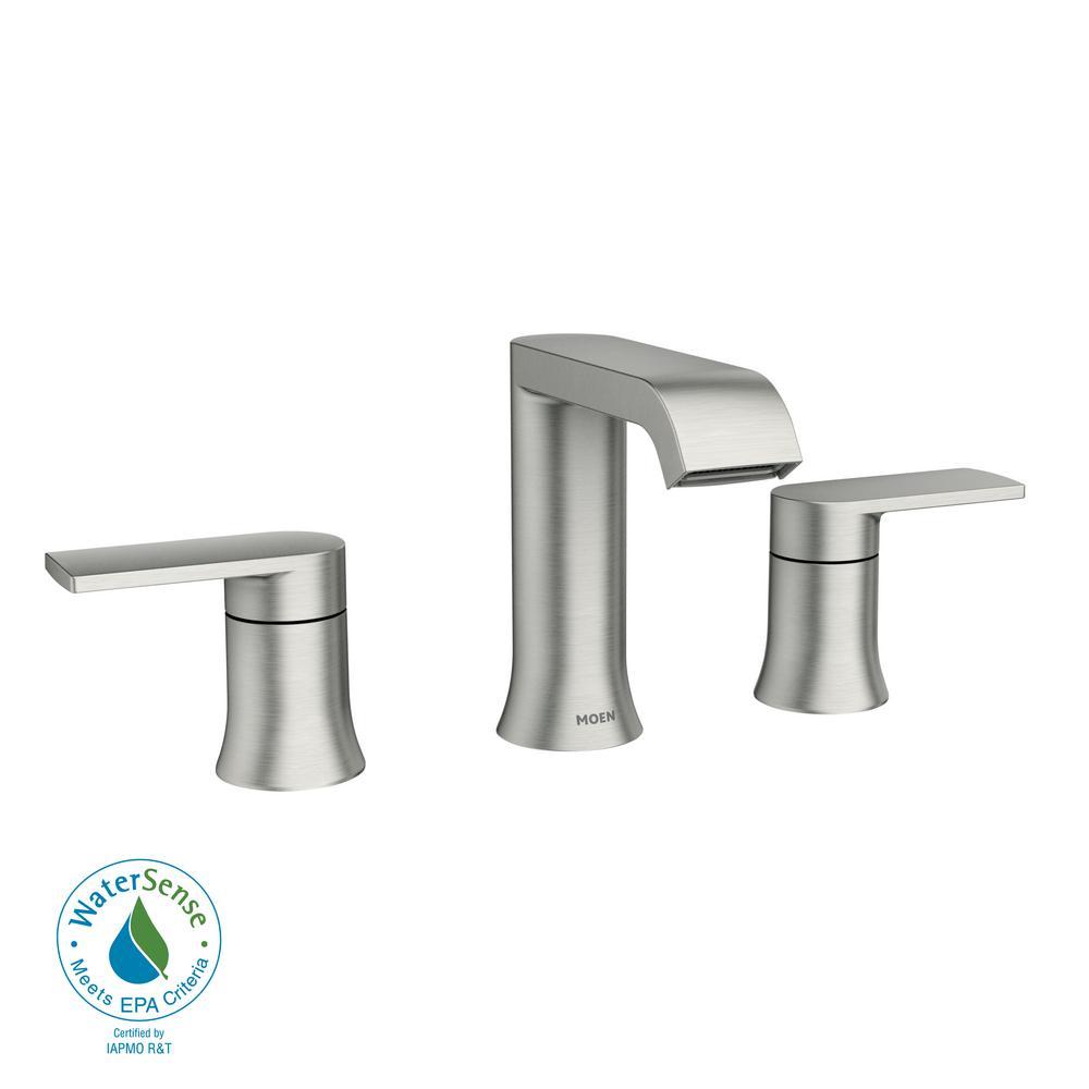 Moen 84763 Spot Resist Brushed Nickel Genta 1.2 GPM Widespread Bathroom Faucet