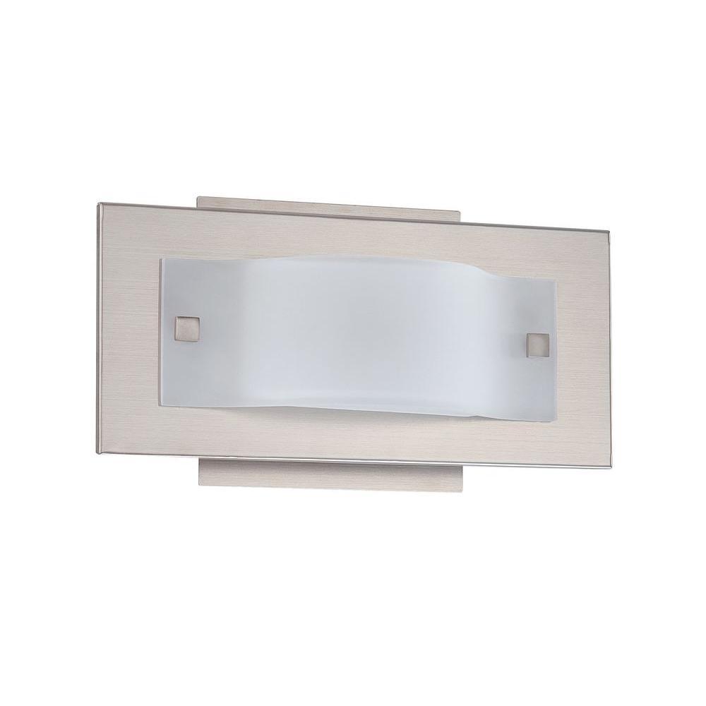 Illumine Cassiopeia 1-Light Satin Nickel Bath Vanity Light