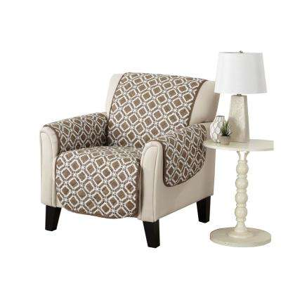 Liliana Collection Fossil Brown Printed Reversible Chair Furniture Protector