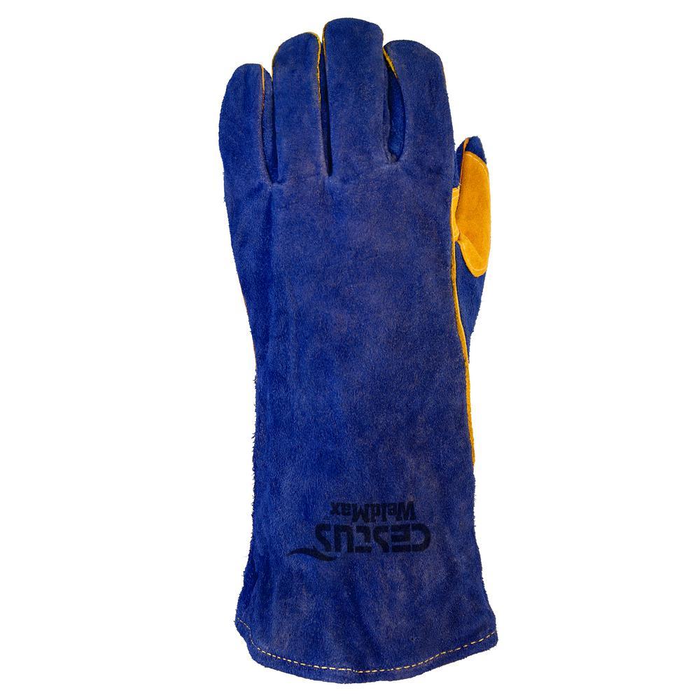 2XL Blue WeldMax Gloves (1-Pack)