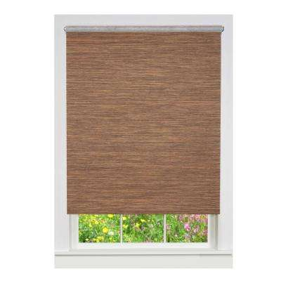 Cocoa Cordless Fabric Privacy Roller Shade - 31 in. W x 72 in. L
