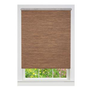 Achim Cocoa Cordless Fabric Privacy Roller Shade 70 In