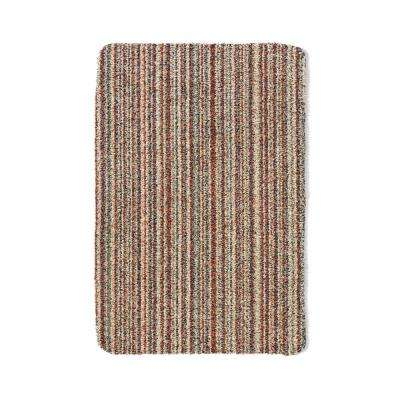 Bosmere Muddle Mat Multi-Color Washable Cotton 2 ft. x 3 ft. Striped Area Rug