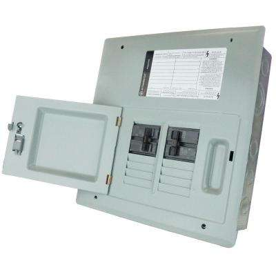 60 Amp 8-Space 120/240V Single Phase 3 Wire Flush Mount NEMA 1 Generator Panel