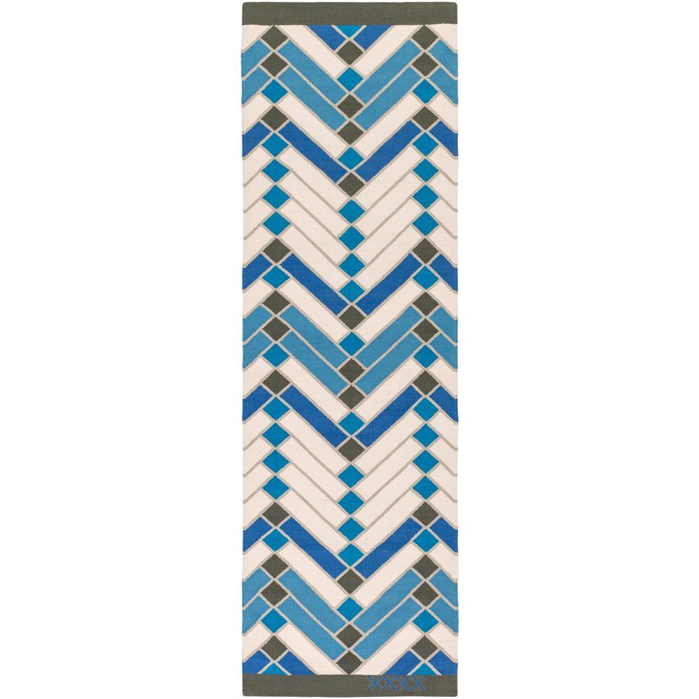 Artistic Weavers Labin Dark Blue 3 ft. x 8 ft. Indoor Runner Rug