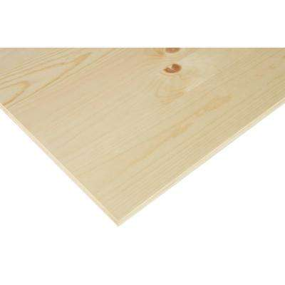 3/4 in. x 2 ft. x 4 ft. PureBond Knotty Pine Plywood Project Panel