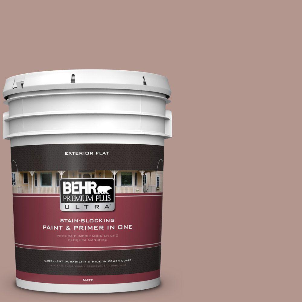 BEHR Premium Plus Ultra 5-gal. #N160-4 Sonora Rose Flat Exterior Paint