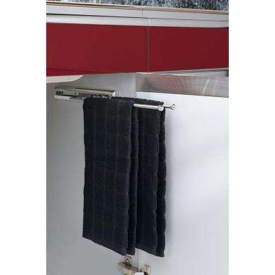 1.5 in. H x 3.875 in. W x 12.875 in. D Chrome Under Cabinet 2-Prong Pullout Towel Bar