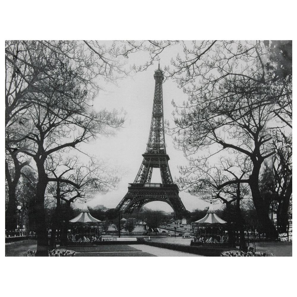 Oriental furniture 24 in x 32 in eiffel tower park for Eiffel tower wall mural black and white