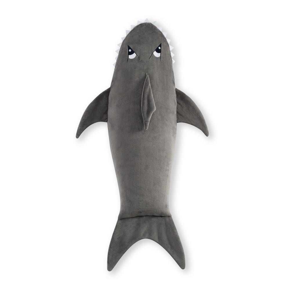 Shark Gray Polyester Throw