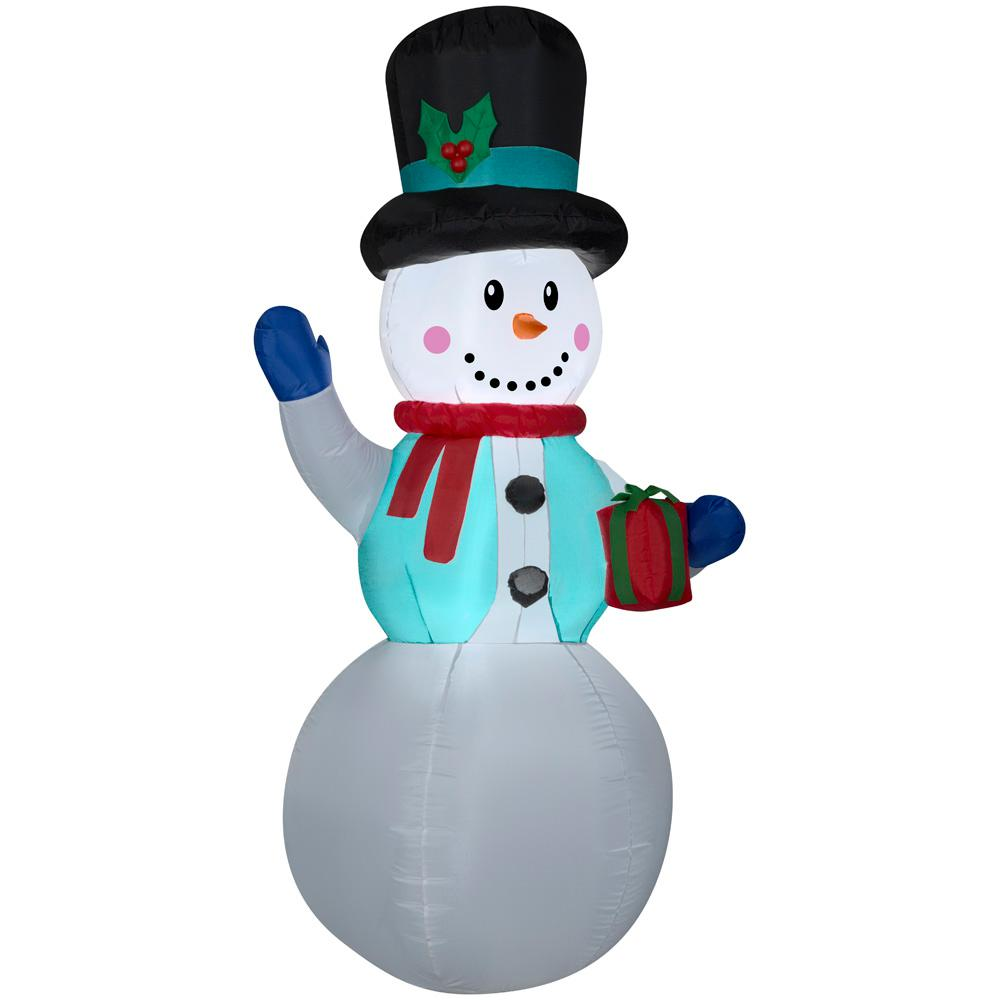 6.50 ft. Pre-lit Inflatable Snowman Airblown
