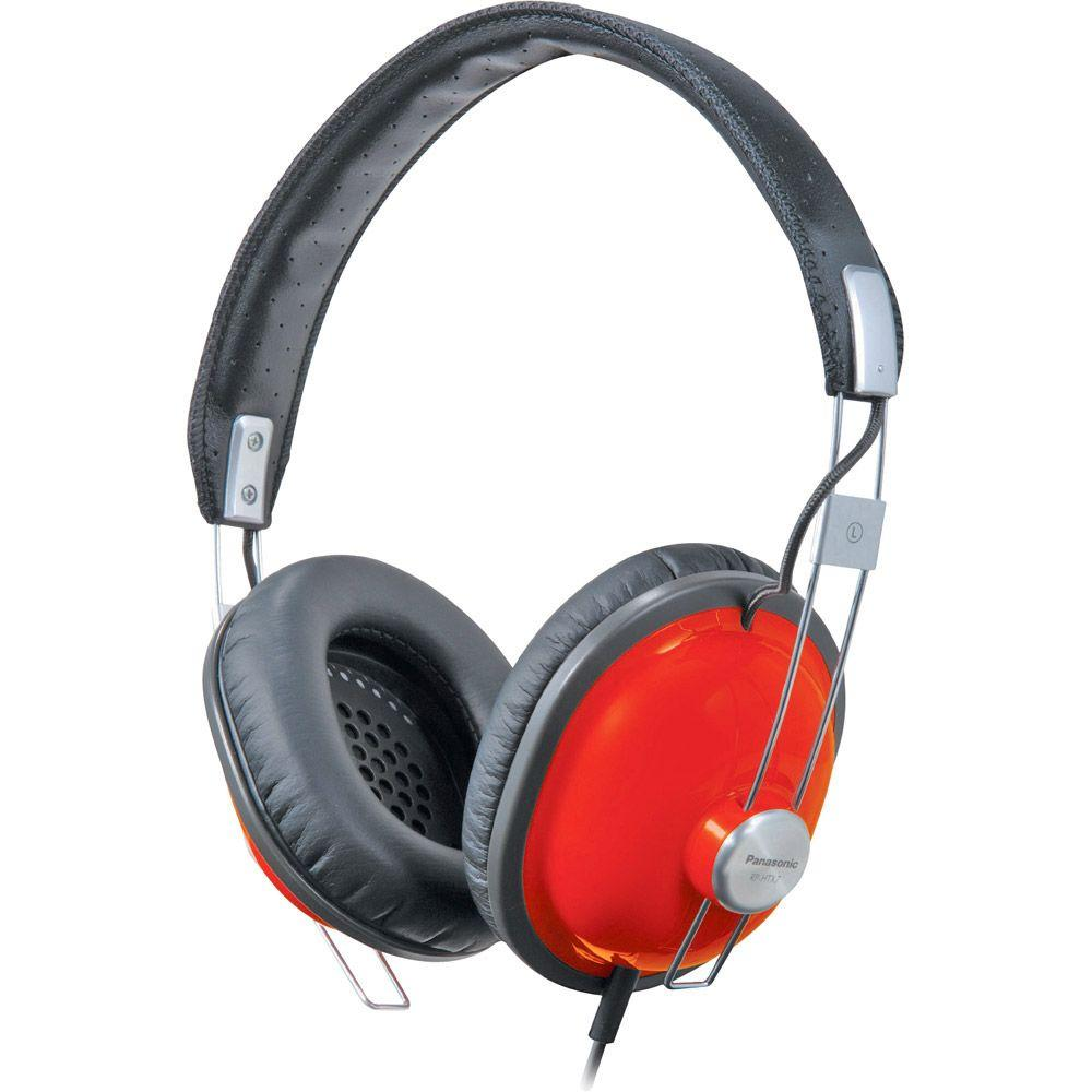 Panasonic Retro-Style Monitor Headphones - Red