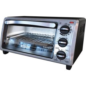 Black & Decker 4-Slice Toaster Oven in Stainless Steel by BLACK+DECKER