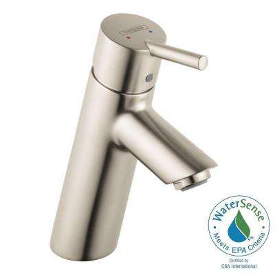 Talis S 80 Single Hole 1-Handle Low-Arc Bathroom Faucet in Brushed Nickel
