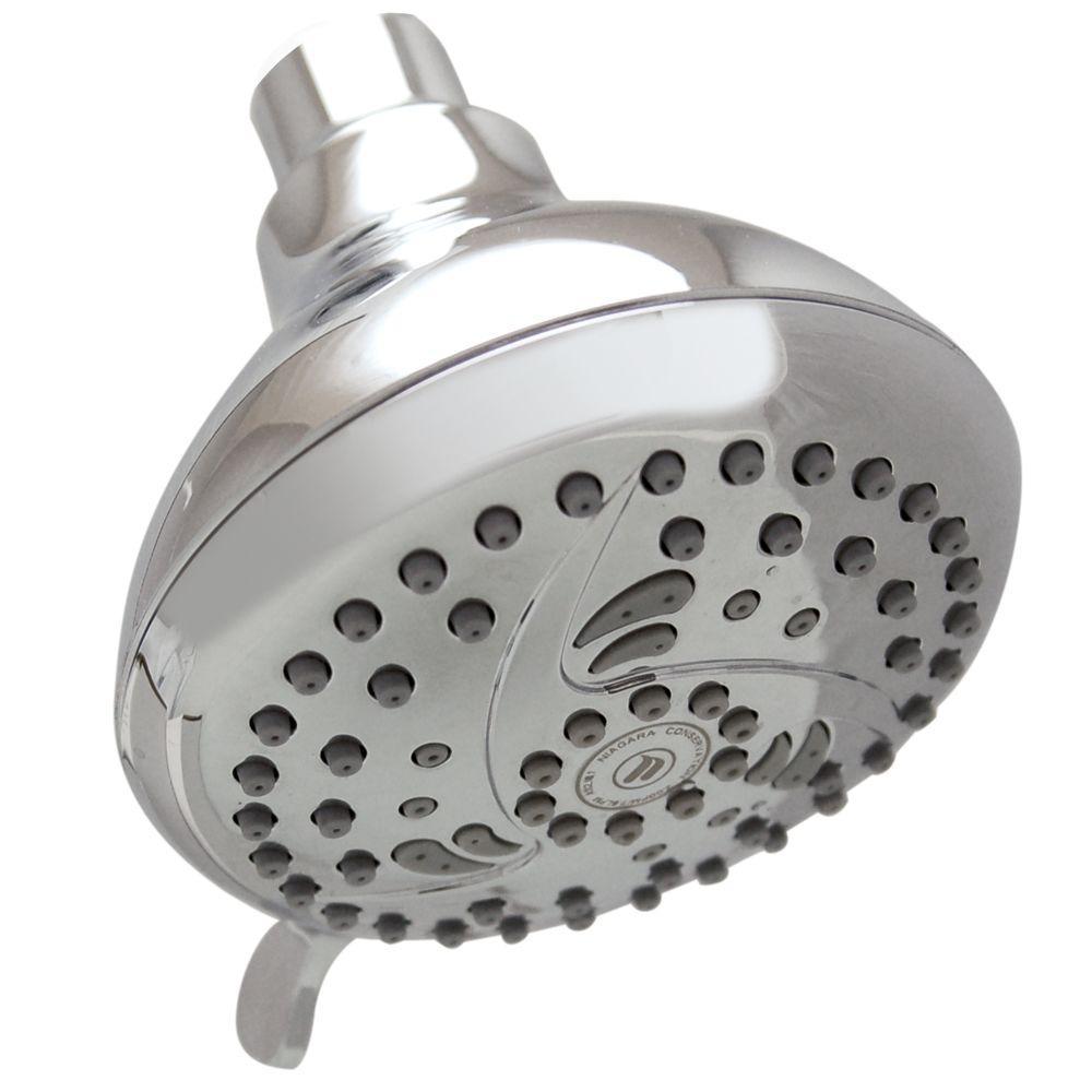 Niagara Conservation 5-Spray 4 in. Vara Spa Fixed Showerhead in ...