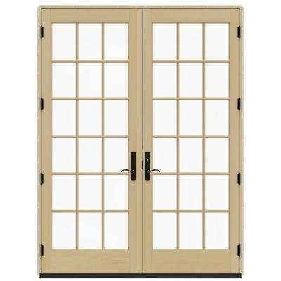 72 in x 96 in w 4500 brilliant white clad wood left - Exterior Patio Doors