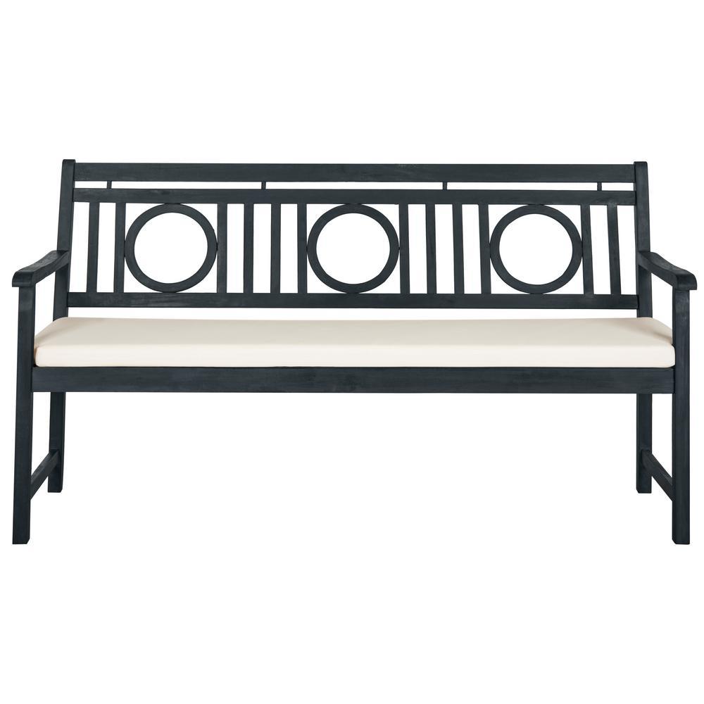 Safavieh Montclair 60 6 In 3 Seat Dark Slate Gray Wood