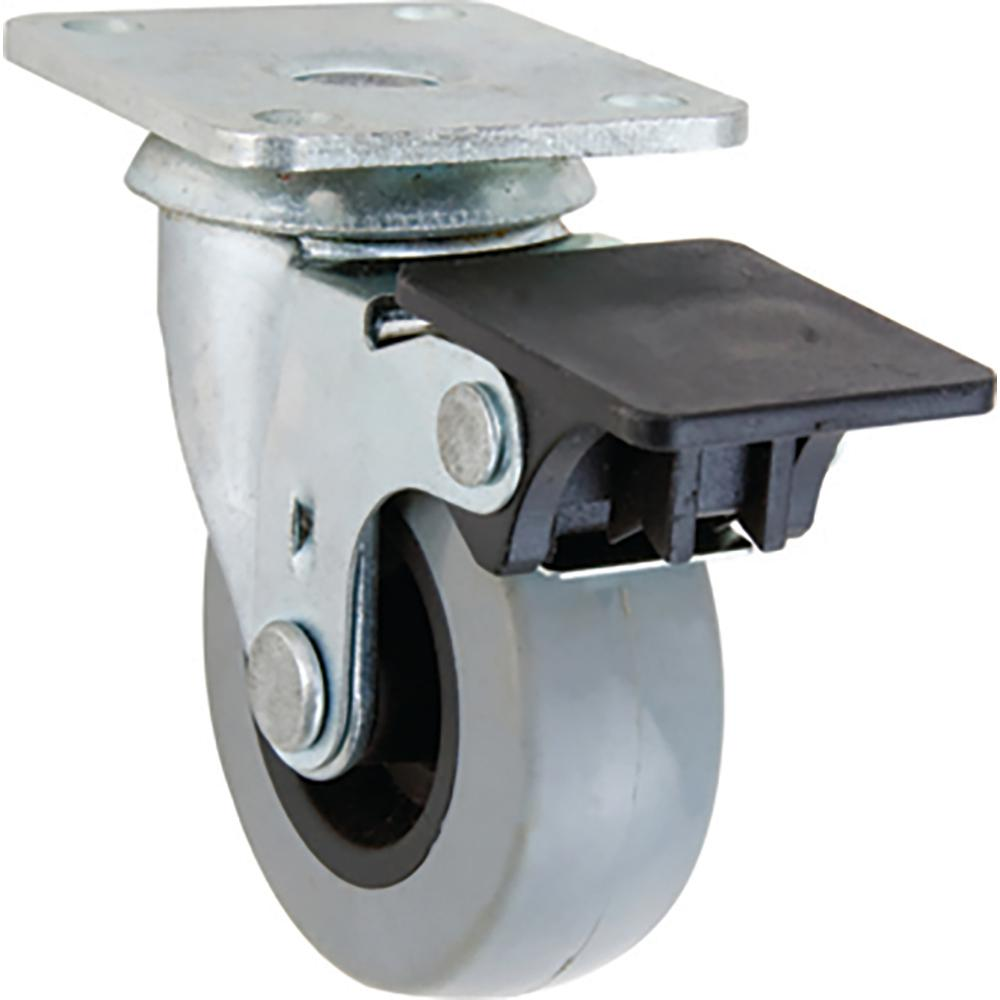 2 in. TPR Swivel Caster with 88 lb. Load Rating and
