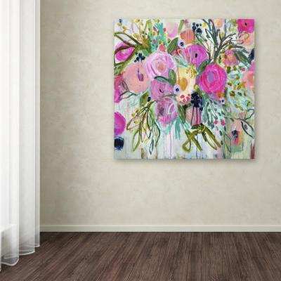 "35 in. x 35 in. ""Rose Burst"" by Carrie Schmitt Printed Canvas Wall Art"