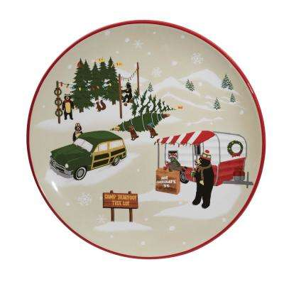 Hometown Holiday Multicolor Dessert Plate (Set of 4)