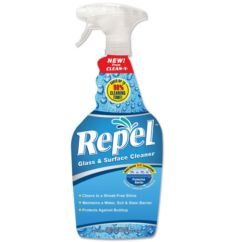 Clean X 25 Oz Repel Glass Cleaner 7100 7 The Home Depot