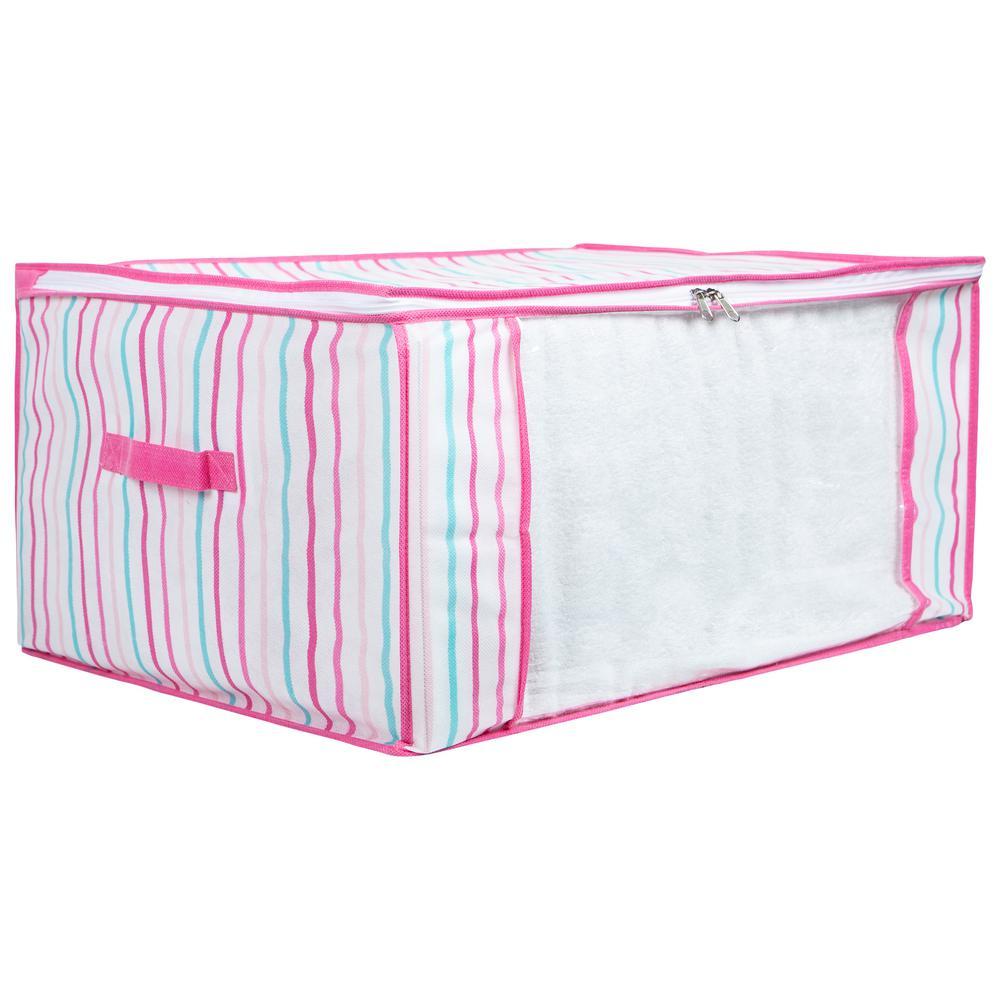 Kids Blanket Bag in Painterly Pink Stripe