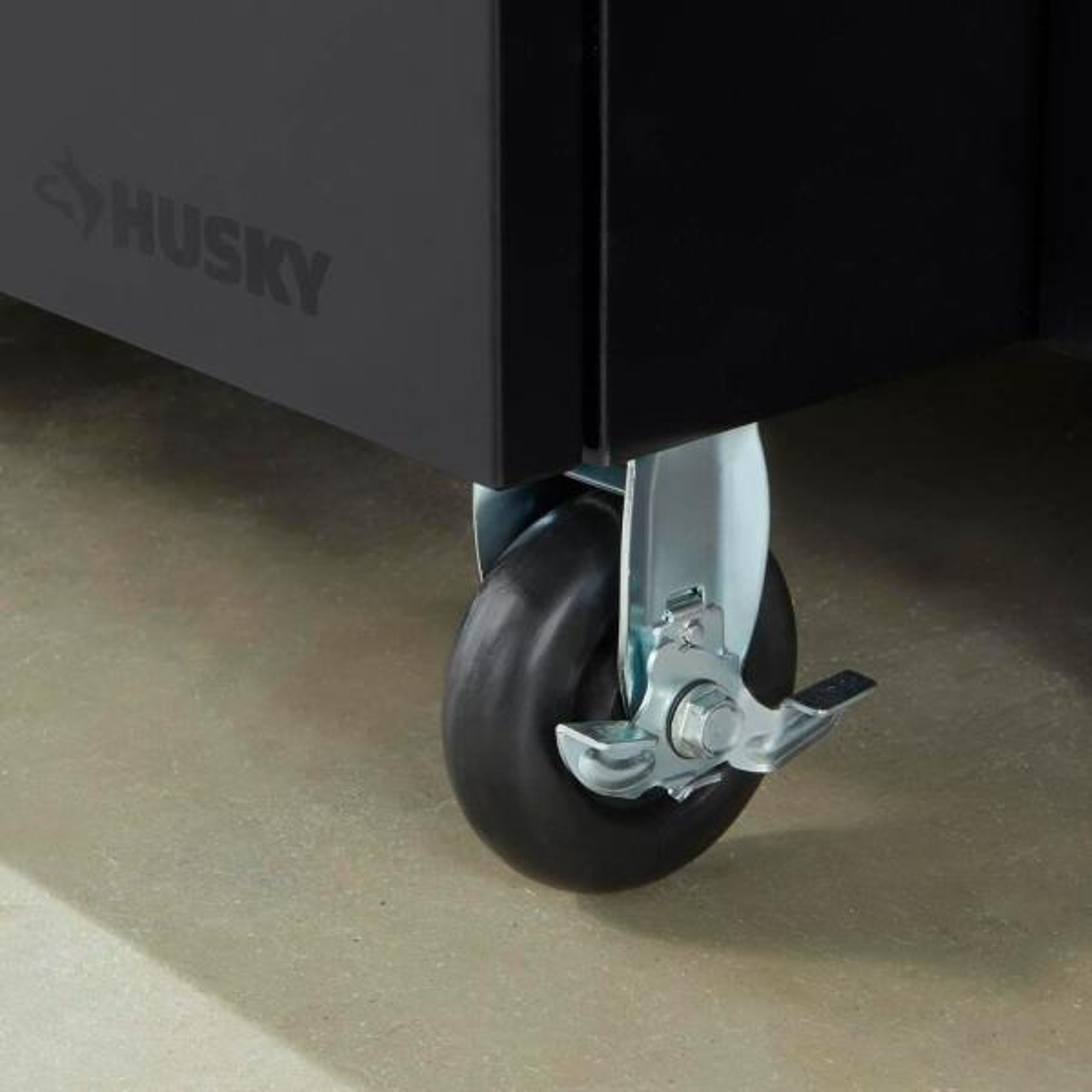 Husky 4 in Black Caster Kit for Welded Steel Garage Cabinets